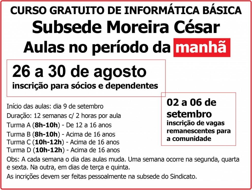 26.08.13 Box Sindicato abre inscrições para cursos em Moreira César