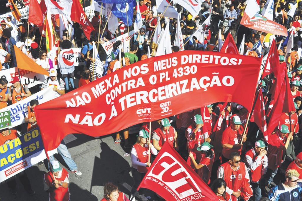 Dia Nacional de Lutas da CUT e Centrais, 11 de julho. Crédito: Mídia Consulte