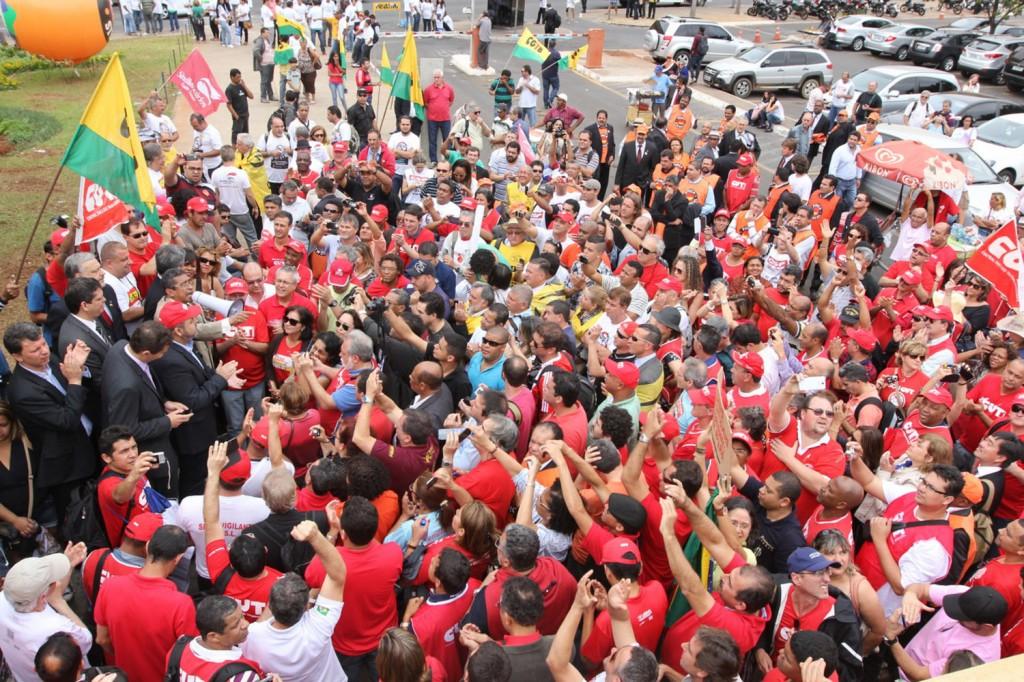 Ato contra o PL 4330, da terceirização, no dia 2 de setembro, em Brasília (Crédito Ronaldo Barroso)
