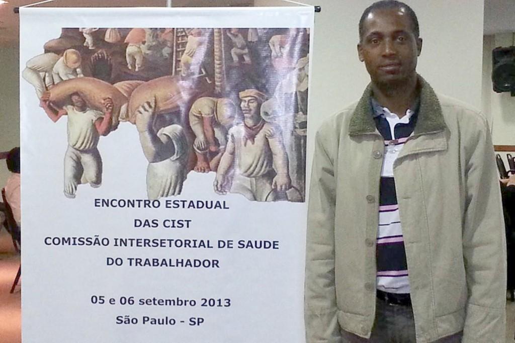 Benedito Irineu, secretário de Comunicação do Sindicato e também coordenador da CIST em Pinda, participou do encontro (Crédito: Divulgação)