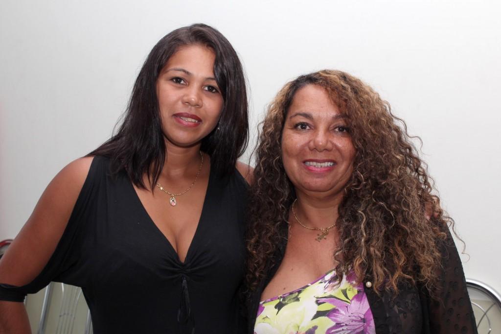 As diretoras do Departamento da Mulher do sindicato, Maria Auxiliadora e Maria Madalena