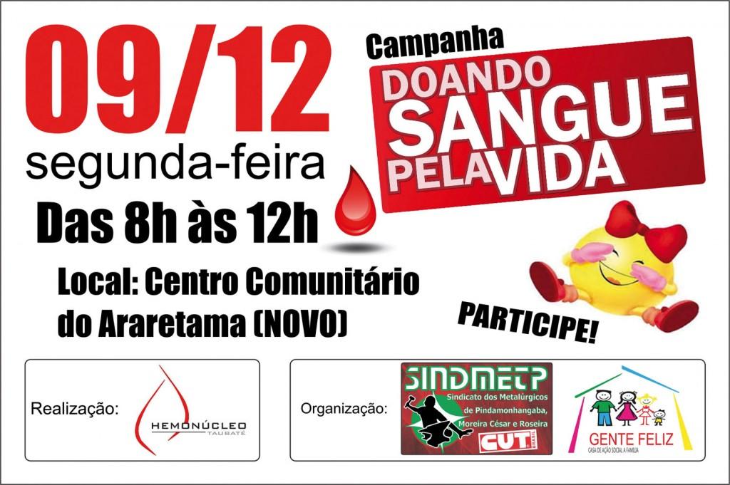Campanha Doando Sangue Pela Vida - Araretama