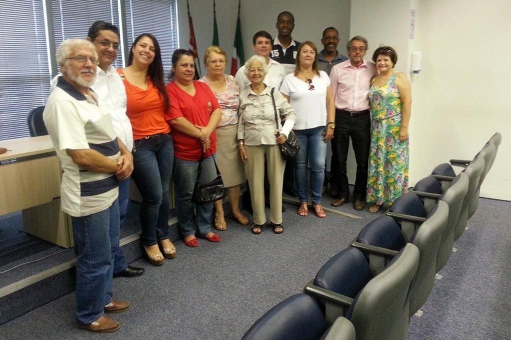 Posse do CMAS em 20 de dezembro de 2013; dirigentes sindicais Benedito Irineu e José Carlos dos Santos fazem parte do conselho