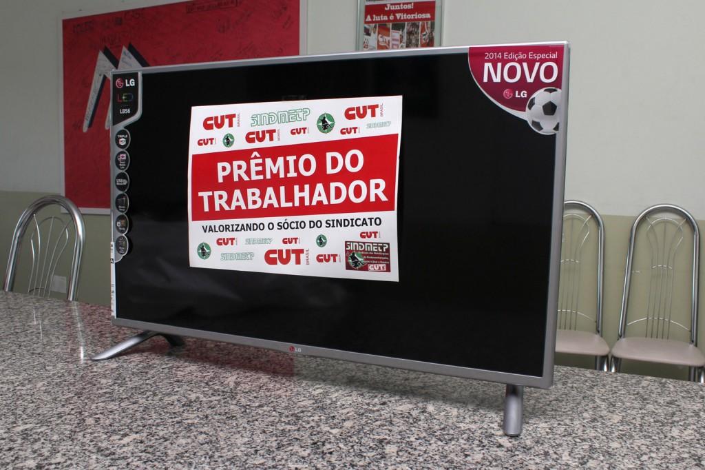 10 TVs LG de 39º  - full HD, edição especial da Copa, também serão sorteadas para sócios do Sindicato dos Metalúrgicos