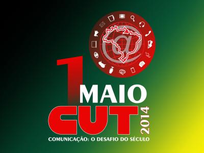 Logo da campanha pelo Dia do Trabalhador deste ano (Arte Maria Dias - Secom-CUT/SP)