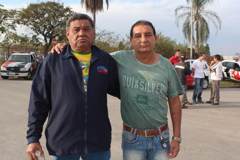 Os dirigentes sindicais Carlos Alberto Barbosa - Pentelho e Paulo Donizete Moreira - Paulinho, ambos da Tenaris Confab Tubos
