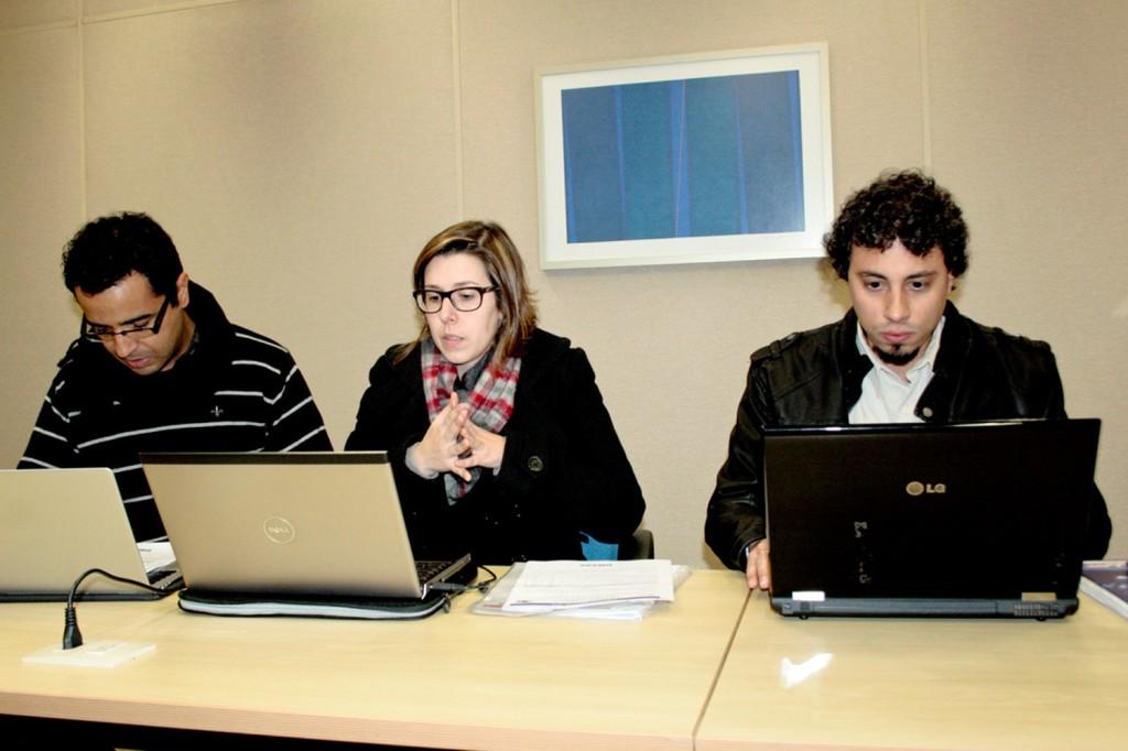 Os técnicos do Dieese Warley Soares (ABC), Caroline Gonçalves (FEM) e Igor Pinheiro (Taubaté) - foto: Mídia Consulte