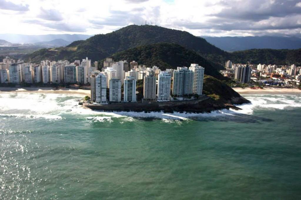 Vista do Morro do Maluf, onde está instalado o hotel Santiago (Crédito: Divulgação)