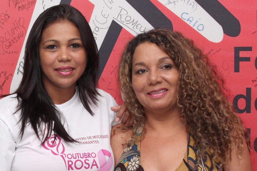 As diretores do Departamento da Mulher do sindicato, Maria Auxiliadora e Maria Madalena, durante evento do ano passado