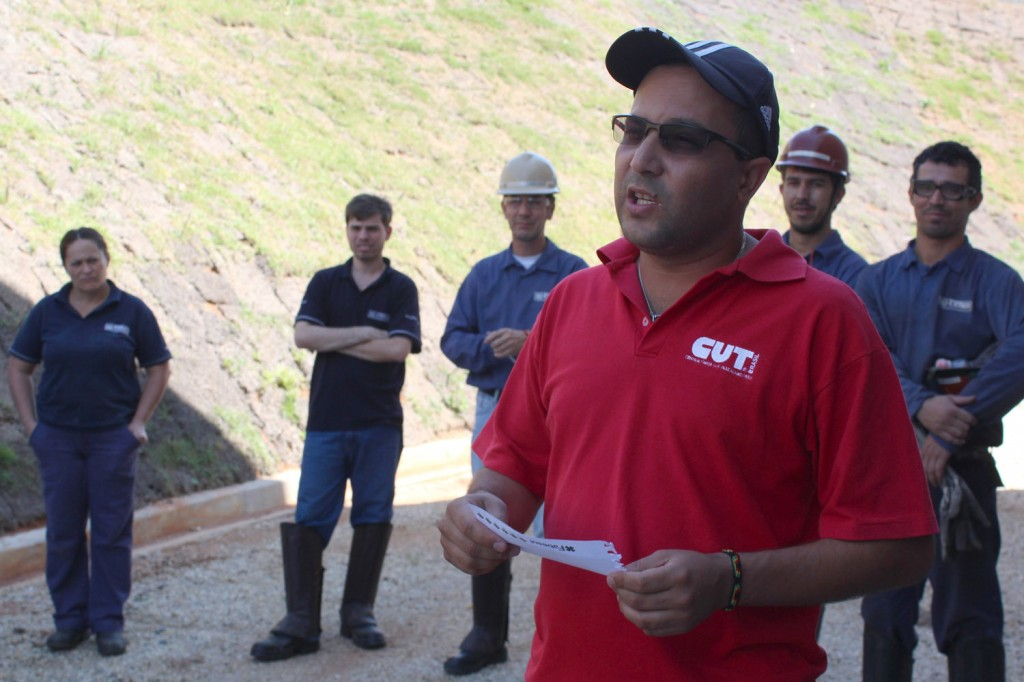 O dirigente sindical Luciano da Silva - Tremembé, que também é membro da FEM-CUT/SP