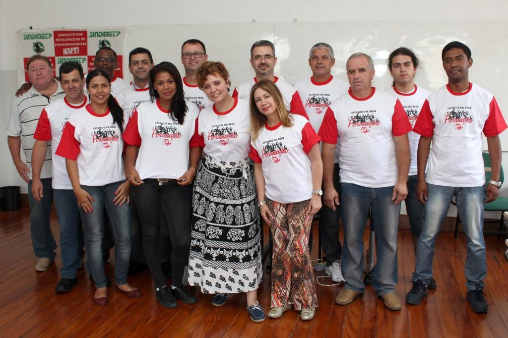 Os novos comunicadores, que passaram por quatro módulos do curso de Organização e Representação Sindical de Base