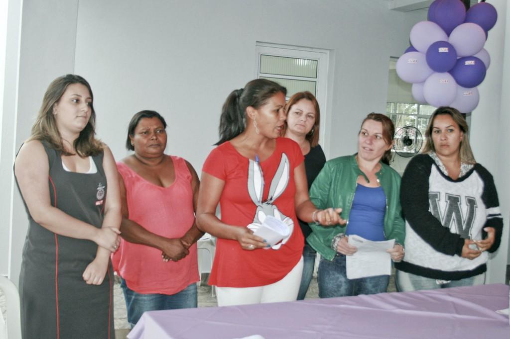 A dirigente sindical de Pinda, Maria Auxiliadora (ao centro), também participou (Crédito Mídia Consulte)