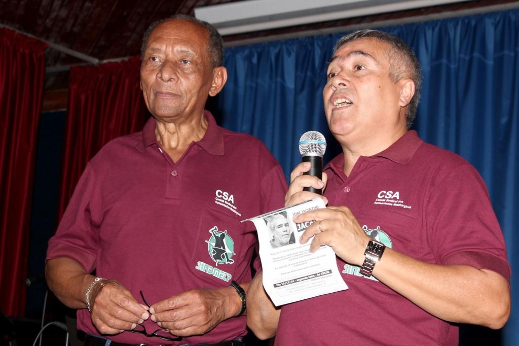 Durante o evento, uma homenagem foi feita ao saudoso companheiro Jacaré