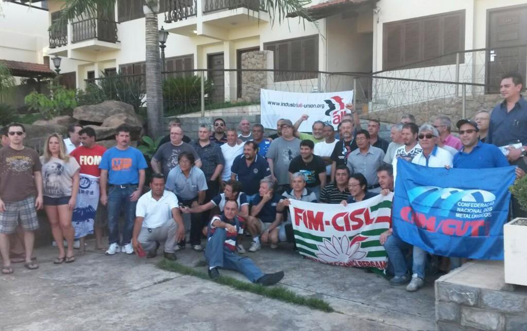 Dirigentes sindicais na Tenaris/Ternium em Belo Horizonte-MG (Crédito: Divulgação)