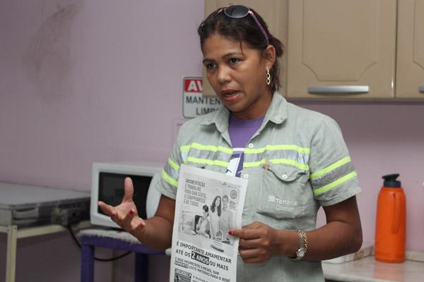 A diretora do Departamento da Mulher, Maria Auxiliadora