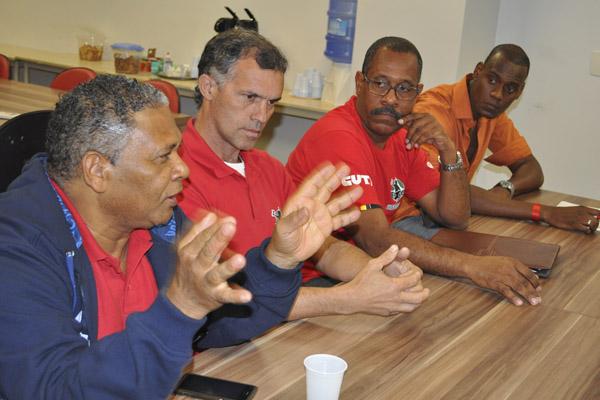 Pinda esteve representado na reunião pelos dirigentes Bosquinho, Palazzi e José Carlos (foto Viviane Barbosa - Mídia Consulte)
