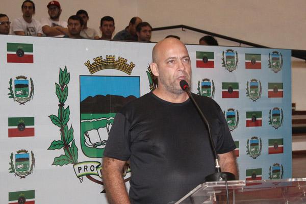 O auditor fiscal do trabalho, Antonio Carlos Pimentel durante audiência pública (foto Guilherme Moura)