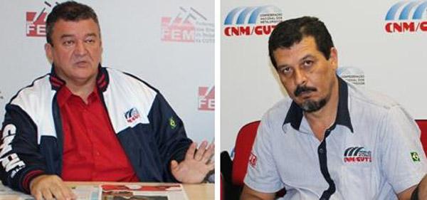 O presidente da CNM, Paulo Cayres, e o presidente da FEM, Luizão