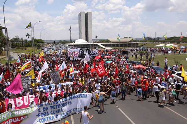 Ato Nacional - Fora Cunha! - Em defesa da Democracia, da Petrobras e contra o Ajuste Fiscal, em novembro de 2015 (foto Edgard Marra)