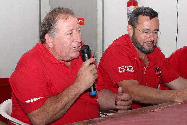 Presidente Renato Mamão junto ao secretário geral Herivelto - Vela