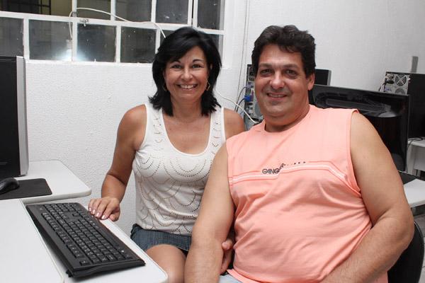 Claudemir Fernandes, sócio do sindicato pela Incomisa, fez o curso junto com sua esposa Marli Alves