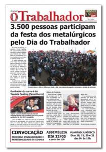 Jornal O Trabalhador.Edição 83.Maio de 2016.indd