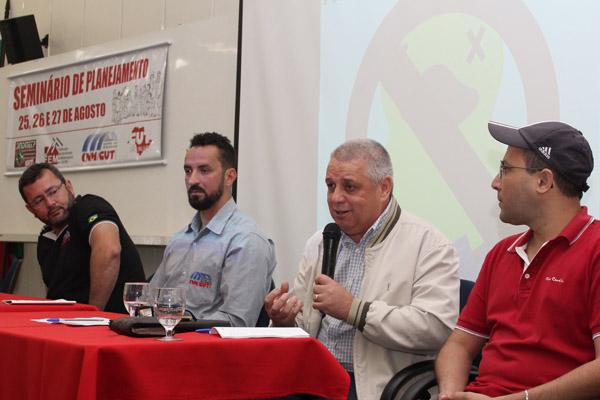 O presidente Herivelto Vela, o secretário de Organização Odirley Prado, Biro Biro e o secretário Geral Luciano Tremembé
