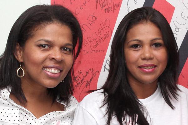 A secretária da Mulher da FEM-CUT/SP, Andréa Ferreira, e a dirigente Maria Auxiliadora, do Departamento da Mulher do Sindicato dos Metalúrgicos de Pinda