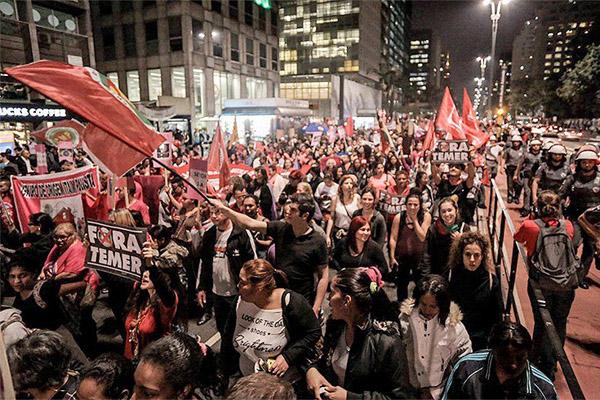 Ato da Frente Brasil Popular, em São Paulo (Foto Mídia Ninja)