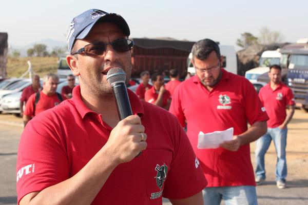 O dirigente sindical na GV, Paceli Alves