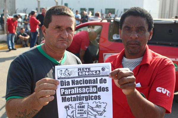 Os dirigentes sindicais André Dantis e Nilton Cunha - Rivelino