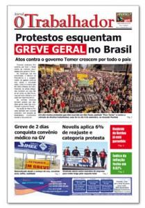 Jornal O Trabalhador.Edição 87.Setembro de 2016.indd