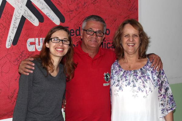 Voluntária Juliana, Serrinha e Mariângela, presidente da Casa do Caminho