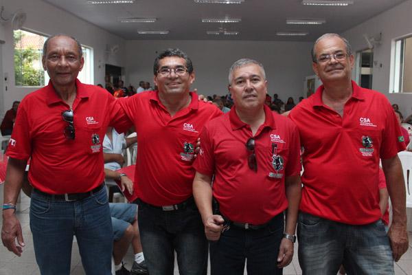 Dirigentes do CSA - Dirceu, Sabiá, Serginho e Mineirinho