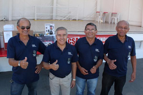 Os diretores do CSA - Mineirinho, Serginho, Sabiá e Dirceu
