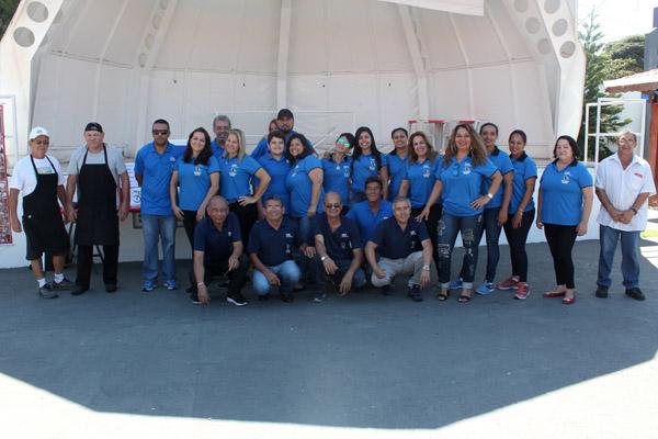 Equipe de organização da festa