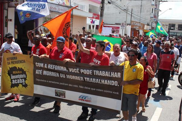 """Ato unificado de diversos sindicatos no dia 25 de março - um """"esquenta"""" da greve geral"""