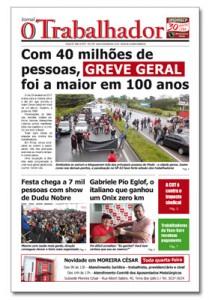 Jornal O Trabalhador.Edição 93.Maio de 2017.indd