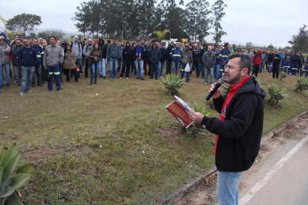 O presidente do sindicato, Herivelto Vela