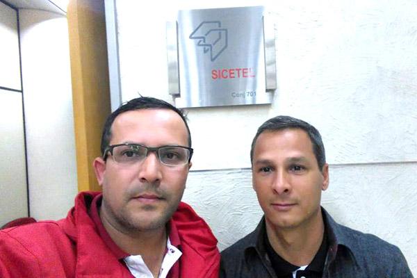 Luciano da Silva - Tremembé e Marcio Fernandes - dirigente sindical na Gerdau
