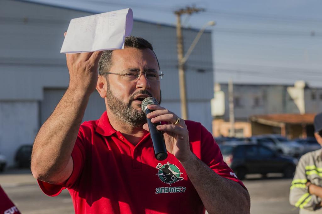 O presidente do sindicato, Herivelto Vela (foto Gilson Leandro)