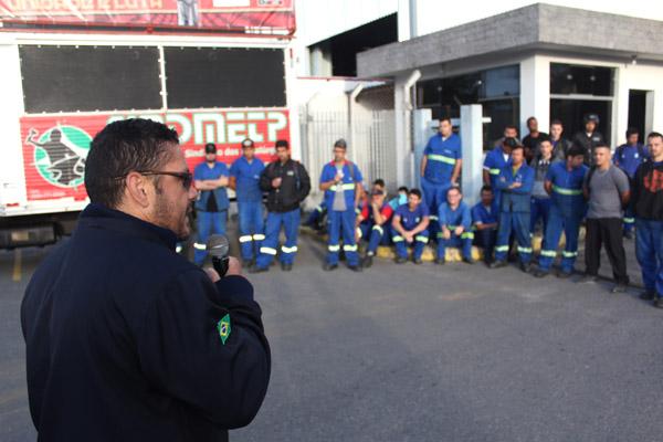 O dirigente sindical Elfer, Anderson Lopes