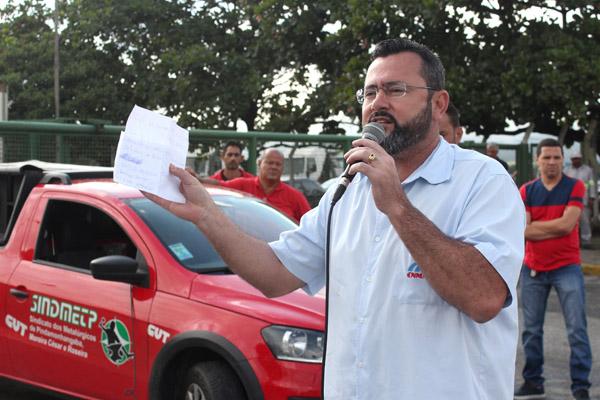 O presidente Herivelto Vela