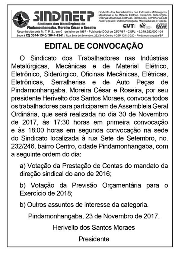 Jornal O Trabalhador.Edição 98.Novembro de 2017-edital2