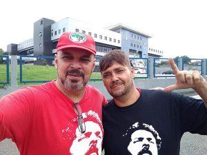 Sindicalistas de Pinda participam da Resistência Lula Livre